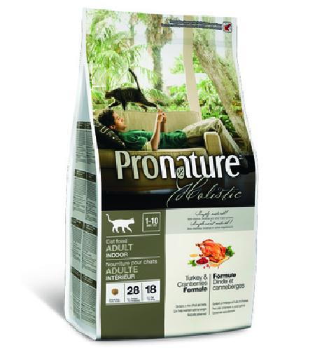 Pronature корм для взрослых кошек всех пород, живущих в помещении, индейка с клюквой 340 гр