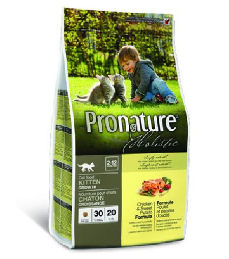 Pronature Holistic для Котят Курица со сладким картофелем 102.2041, 2,720 кг