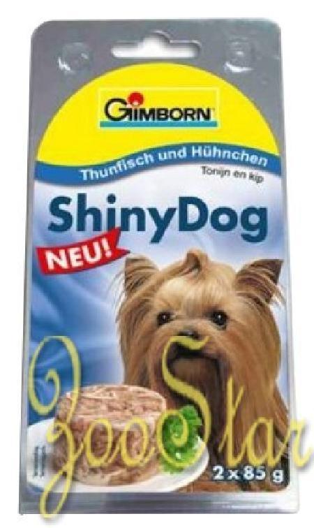 Gimborn Shiny Dog влажный корм для взрослых собак, цыпленок с тунцом 85 гр
