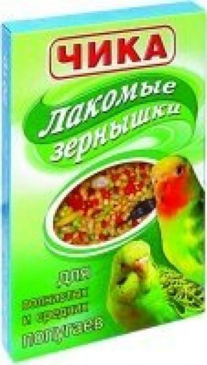 Чика Лакомые зернышки дволнистых и средних попугаев 20г