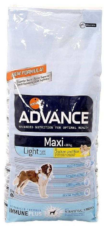 Advance (снят с производства) СМ АРТИКУЛ 35836Для взрослых собак крупных пород с курицей и рисом, контроль веса (Maxi Light) 559511 .., 15 кг, 13069