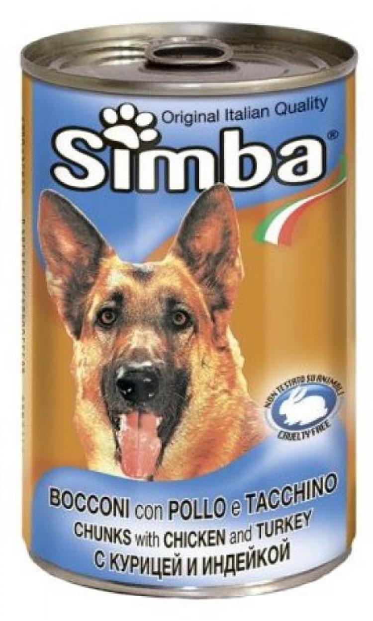 Simba Dog консервы для собак кусочки курицы с индейкой 1230г