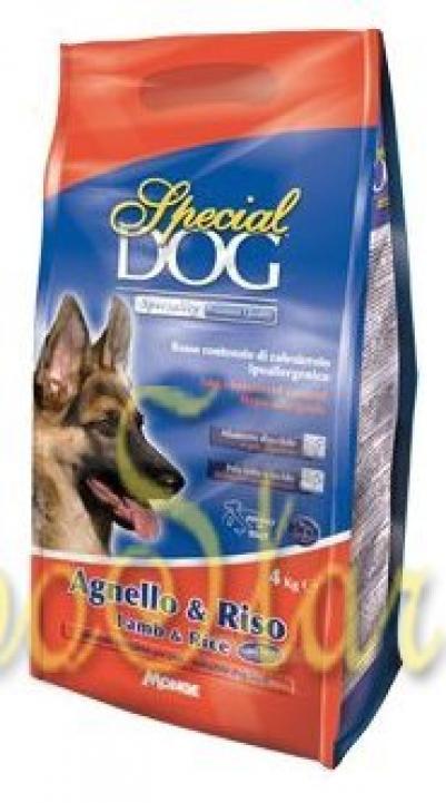 Special Dog корм для собак с особыми потребностями (с чувствительной кожей и пищеварением) ягненокрис 4 кг
