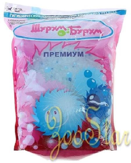 Шурум-Бурум Премиум наполнитель силикагелевый  3,8 л синий, 1HAC00015