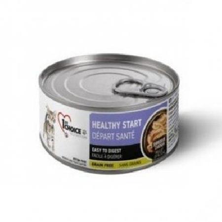 1st Choice Здоровый Старт влажный корм для котят всех пород, курица в масле тунца 85 гр