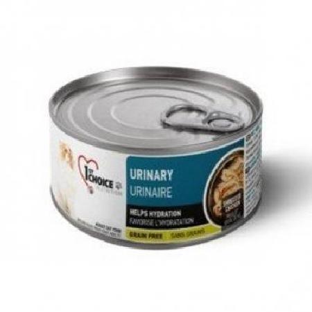 1st Choice влажный корм для взрослых кошек всех пород, профилактика МКБ, курица и клюква 85 гр