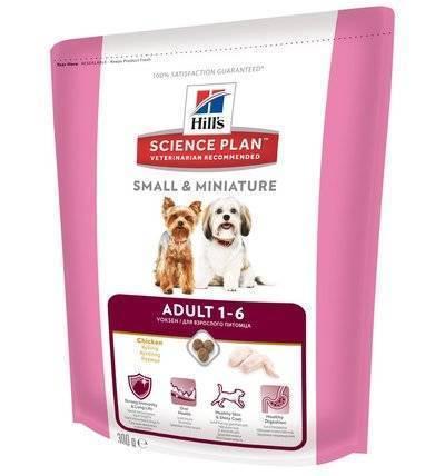 Hills Science Plan Сухой корм для взрослых собак малых и миниатюрных пород с курицей (Adult Small&Miniature ) 2820X/604231, 0,300 кг