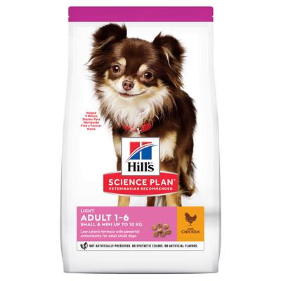 Hills Science Plan Сухой корм для взрослых собак малых и миниатюрных пород низкокалорийный(Adult Light Small&Miniature) 604236, 1,500 кг