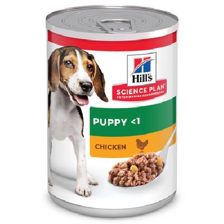 Hills влажный корм для щенков всех пород, курица 370 гр