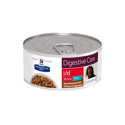 Hills вет.консервы Консервы Рагу i/D для cобак малых пород Лечение ЖКТ при стрессе, с курицей (Stress Mini) 603872, 0,156 кг, 35900