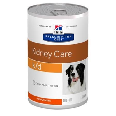 Hills k/d влажный корм для взрослых и пожилых собак всех пород, при заболеваниях почек, курица 370 гр