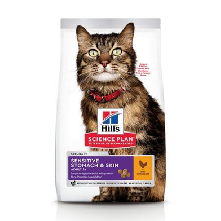 Hills Science Plan ВИА см арт 38687 Для взрослых кошек с чувствительным желудком и кожей (Adult Sensitive Stomach & Skin) 11080Y, 0,4 кг, 25372