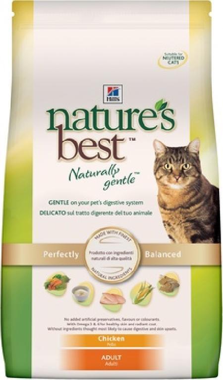 Hills Natures Best корм для взрослых кошек всех пород, курица с овощами 2 кг