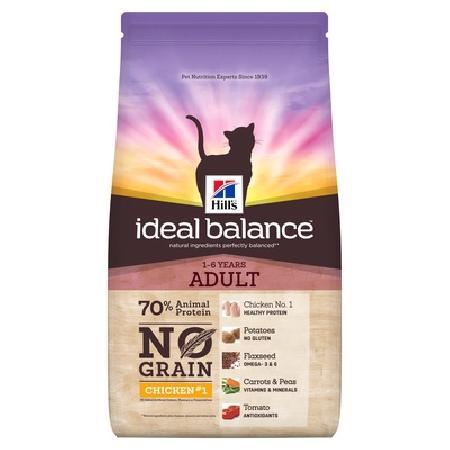 Hills Ideal Balance корм для взрослых кошек всех пород, беззерновой, свежая курица и картофель 1,5 кг