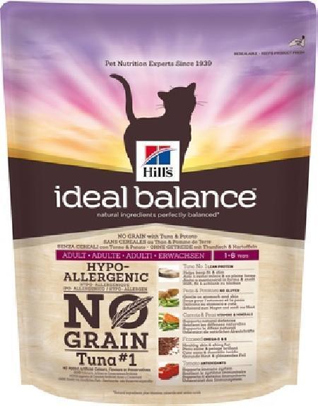 Hills Ideal Balance  ВИА Беззерновой корм для взрослых кошек тунец и картофель (Adult Tuna&Potato) 603579, 1,5 кг, 33832