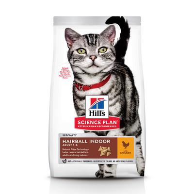Hills корм для взрослых домашних кошек всех пород с курицей 1,5 кг