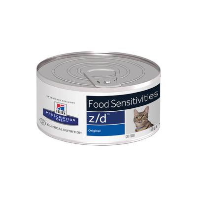 Hills z/d влажный корм для взрослых и пожилых кошек всех пород, здоровье кожи и пищевая аллергия 156 гр