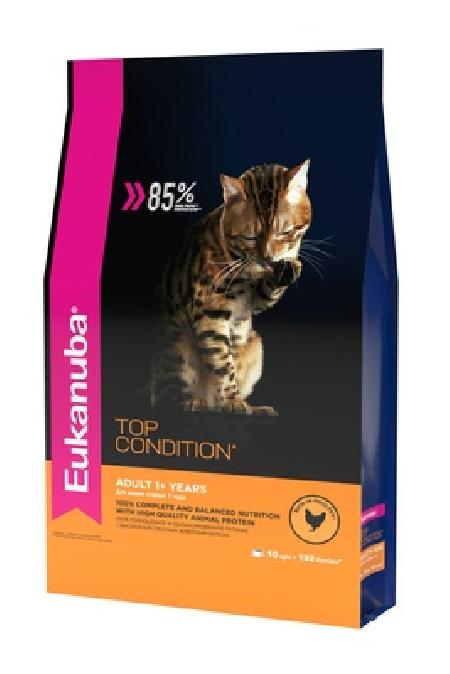 Eukanuba корм для взрослых кошек всех пород, домашняя птица 10 кг