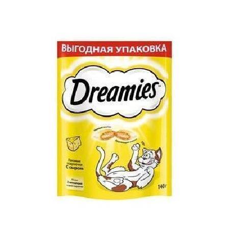 Dreamies Лакомые подушечки для кошек с сыром 10193268, 0,140 кг