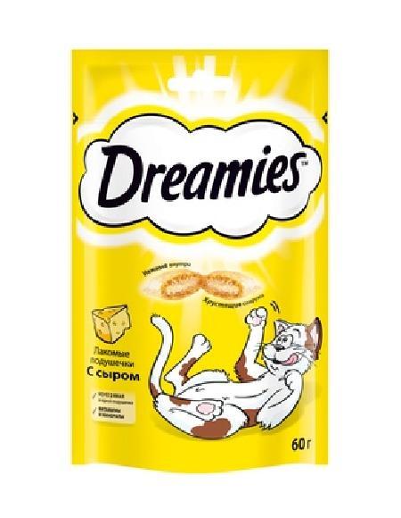 Dreamies лакомство для кошек, подушечки с сыром 60 гр