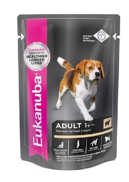 Eukanuba Паучи корм для собак с ягненком в соусе (10151135), 0,100 кг