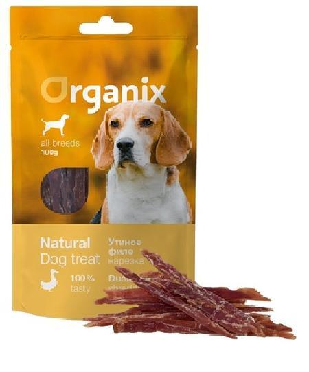 Organix лакомства Лакомство для собак «Нарезка утиного филе» (100% мясо) (Duck fillet/ shredding) 100 гр , 0,100 кг