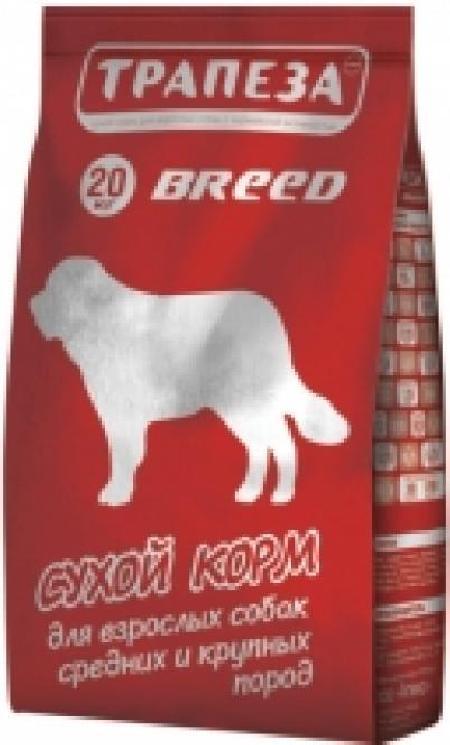 Трапеза Breed сух.длЯ собак обак средних и крупных пород 20кг