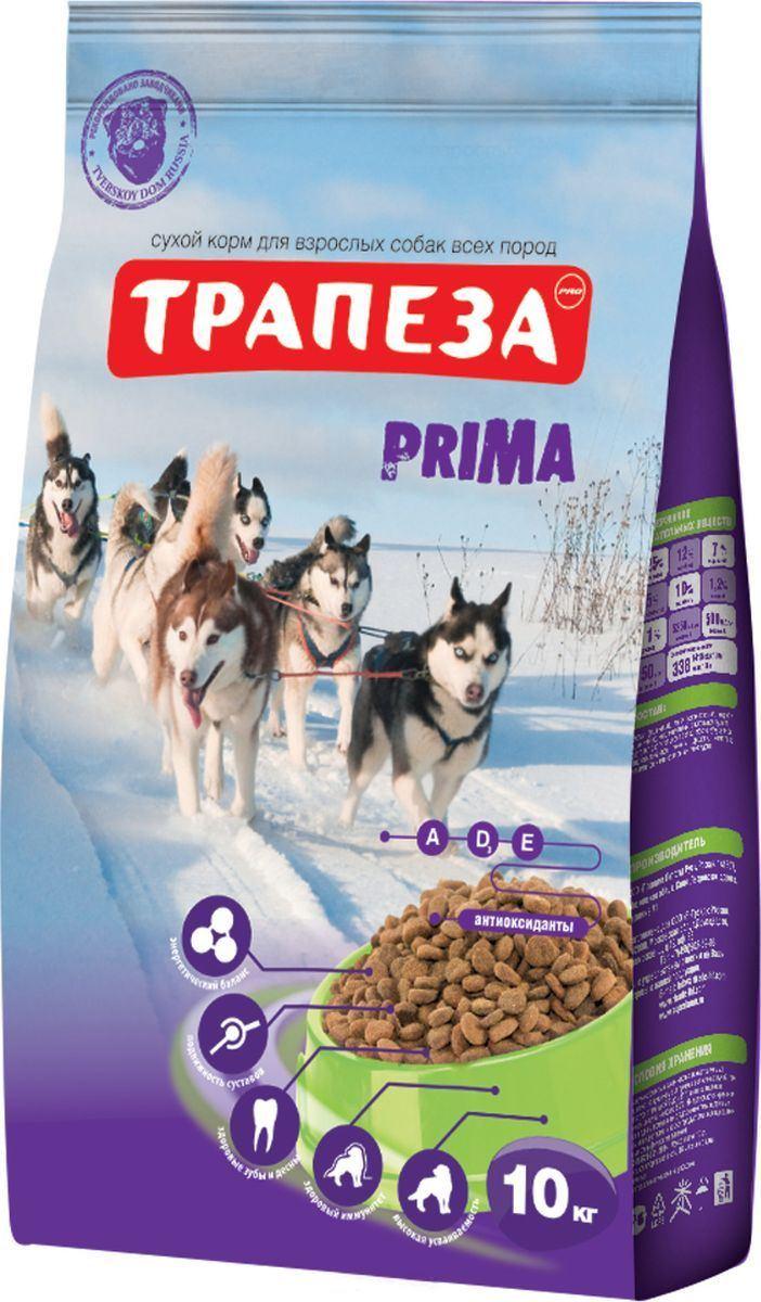 Трапеза корм для взрослых собак всех пород, энергия и выносливость 10 кг