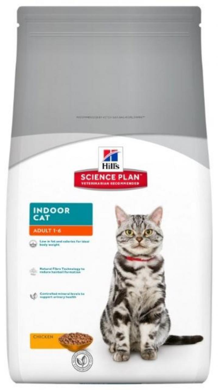 Hills корм для взрослых домашних кошек всех пород с курицей 4 кг