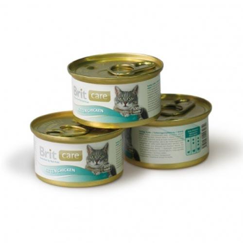 Brit Care влажный корм для котят всех пород, курица 80 гр
