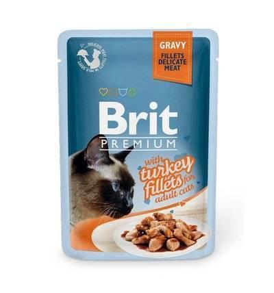 Brit Premium влажный корм для взрослых кошек всех пород, индейка 85 гр