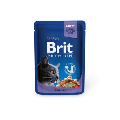 Brit Premium влажный корм для взрослых кошек всех пород, треска 100 гр