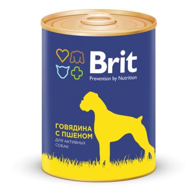 Brit ВИА см арт 44094 Консервы для собак с говядиной и пшеном (Beef&Millet) 1924, 0,850 кг, 37278