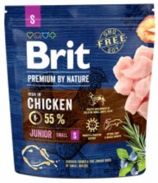 Brit Premium корм для щенков малых пород, курица 1 кг
