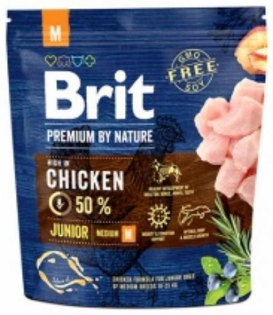 Brit Premium корм для щенков средних пород, курица 1 кг