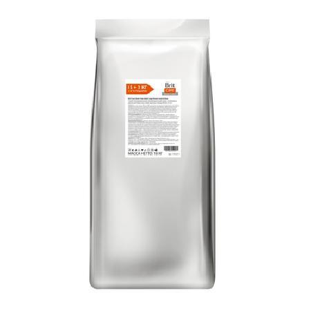 Brit Акция 15+3кг в подарок Сухой корм Care для собак крупных пород от 25кг с ягненком и рисом (Adult Large Breed Lamb&Rice) 170127-1, 18 кг, 197100