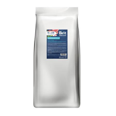 Brit Акция 15+3кг в подарок Сухой корм Premium для собак чувствительное пищеварение с ягненком 532209-1, 18 кг, 409960