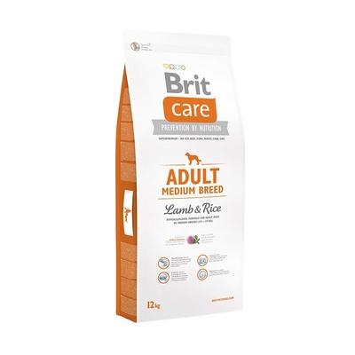 Brit Акция 12+2 кг в подарок сухой корм Care Adult Medium Breed Lamb&Rice для взрослых собак средних пород с ягненком и рисом 533602, 14,000 кг