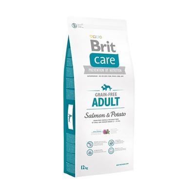 Brit Care корм для взрослых собак, лосось и картофель 1 кг