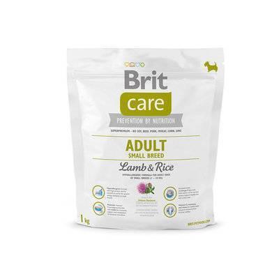 Brit Care корм для взрослых собак малых пород, ягненок и рис 1 кг
