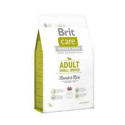 Brit Care корм для взрослых собак малых пород, ягненок и рис 3 кг