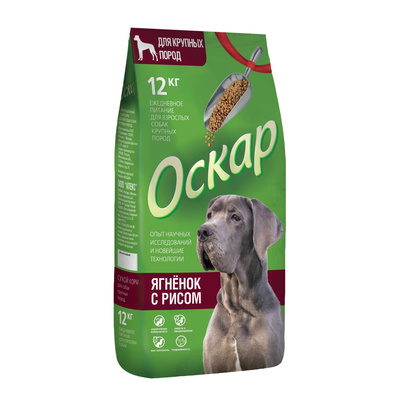 Оскар корм для взрослых собак крупных пород 12 кг