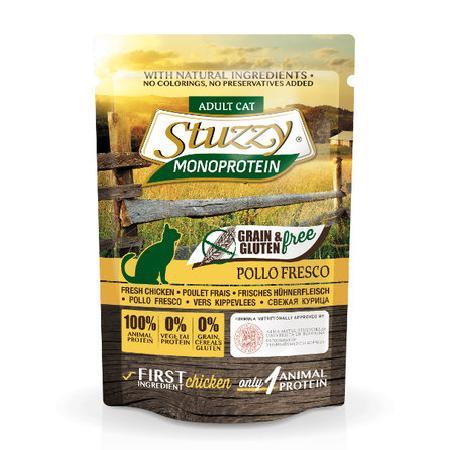 Stuzzy Monoprotein влажный корм для взрослых кошек всех пород, свежая курица 85 гр
