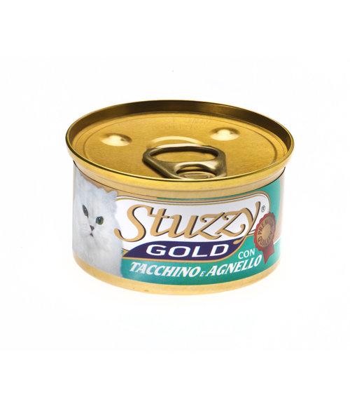 Stuzzy Gold влажный корм для взрослых кошек всех пород, мусс с индейкой 85 гр