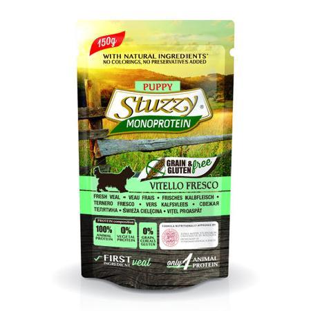 Stuzzy Monoprotein влажный корм для щенков всех пород, свежая телятина 150 гр