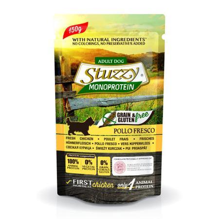 Stuzzy Monoprotein влажный корм для взрослых собак всех пород, свежая говядина и черника 150 гр