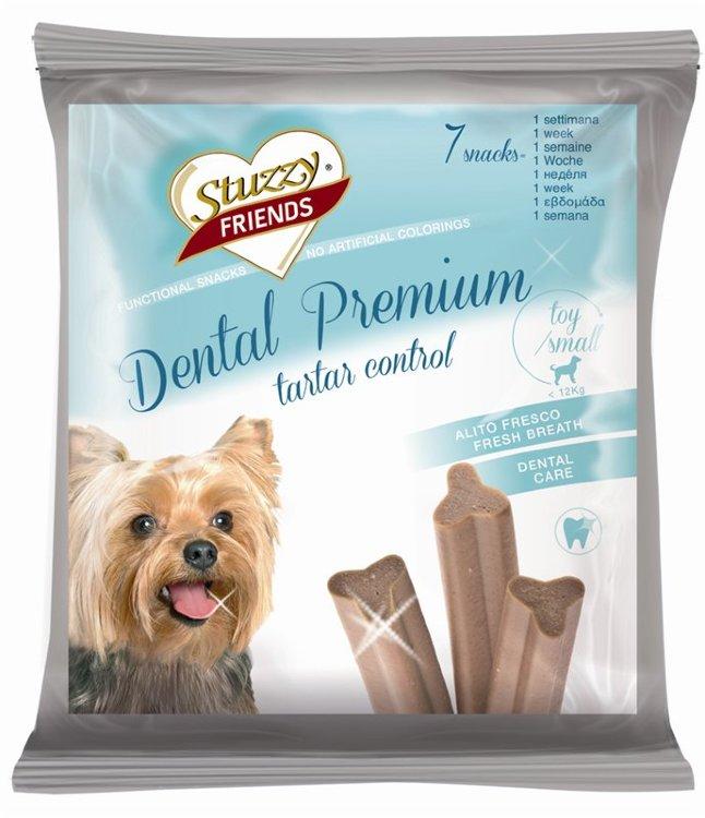 [94.132.С3770]  STUZZY FRIENDS Dental Premium 7 палочек д/собак до 12кг  (уп-22шт)   110г, 94.132.С3770