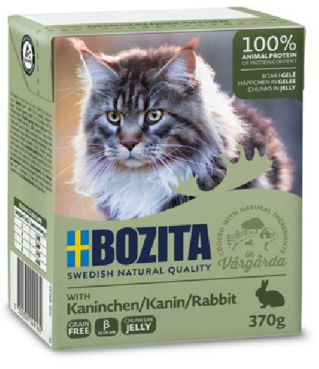 Bozita влажный корм для взрослых кошек всех пород, кусочки в желе с кроликом 370 гр