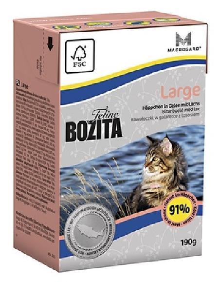 Bozita влажный корм для взрослых кошек крупных пород, курица 190 гр