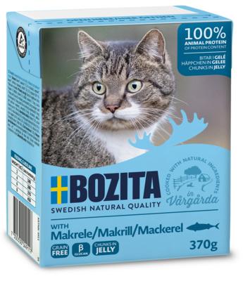 Bozita влажный корм для взрослых кошек всех пород, кусочки в желе со скумбрией 370 гр
